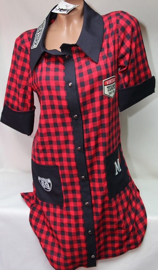 Рубашки - туники женские оптом 22033038 942-2