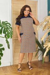 Платья женские БАТАЛ оптом 03821975 18 -3