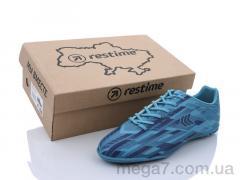 Футбольная обувь, Restime оптом DMB21419-1 cyan-navy