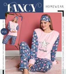 Ночные пижами женские на флисе FANCY HOMEWEAR оптом 53926147 9135-21