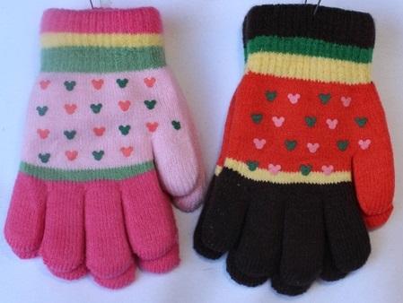 Перчатки детские ( на девочек ) оптом 31086492 С7127-2