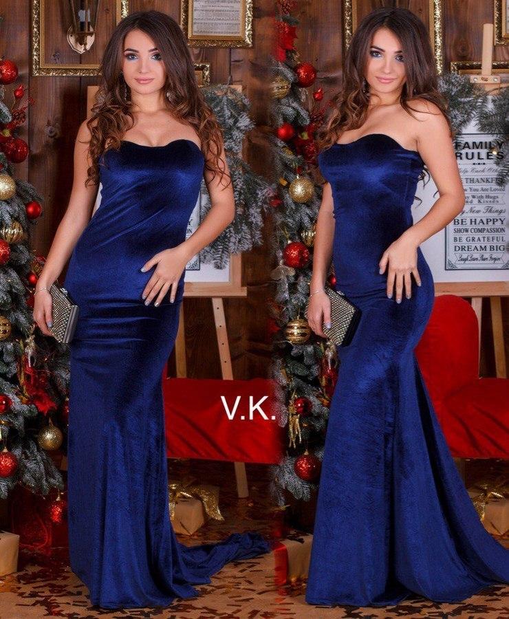 Платья женские с шлейфом оптом 91203476 Н-246-13