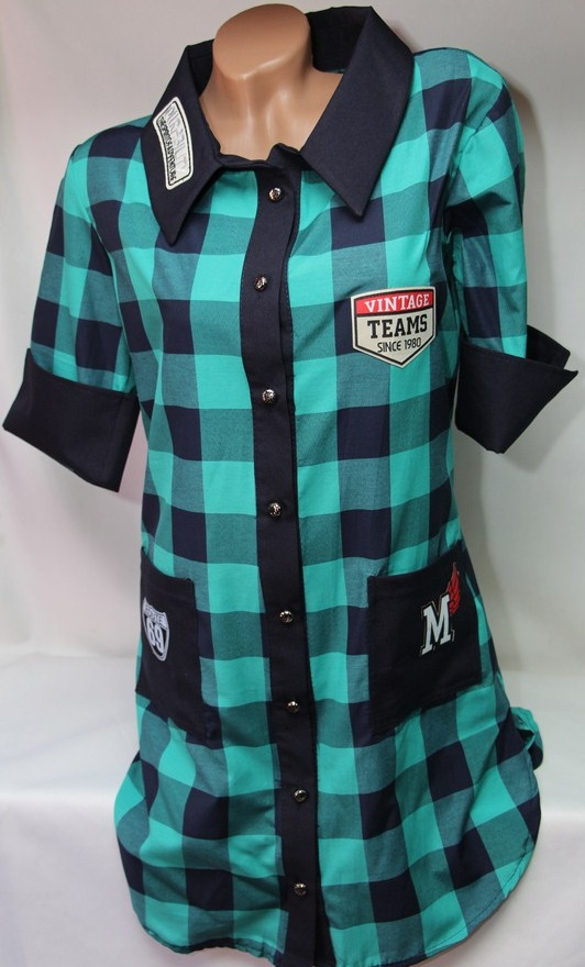 Рубашки - туники женские оптом 22033038 942-1