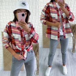 Рубашки женские на байке оптом 01643985 3094-20