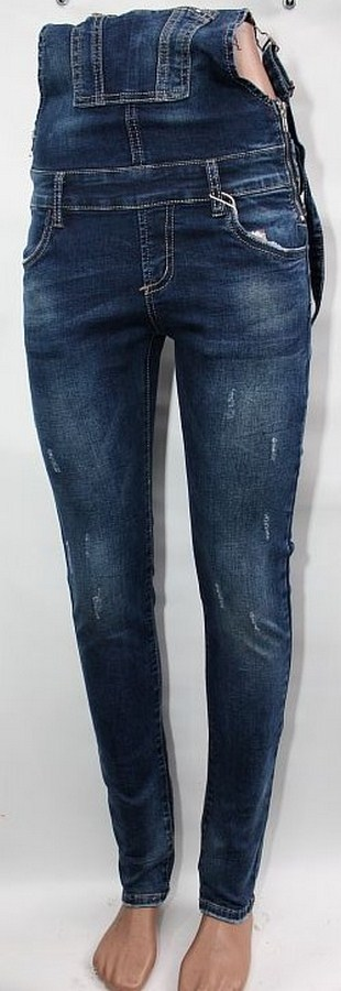 Комбинезоны джинсовые женские оптом 16839057 5579