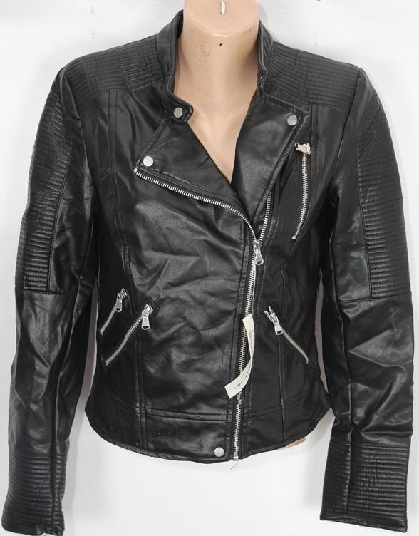 Куртки-косухи женские кожзам оптом 95206714 AW-031