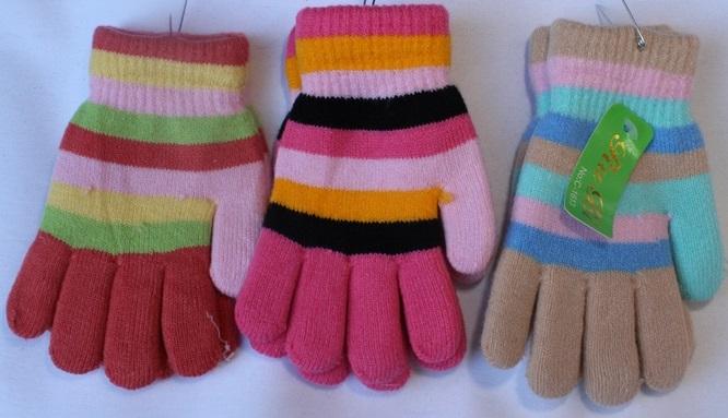 Перчатки детские (на девочек ) оптом 16748352 С7163-1