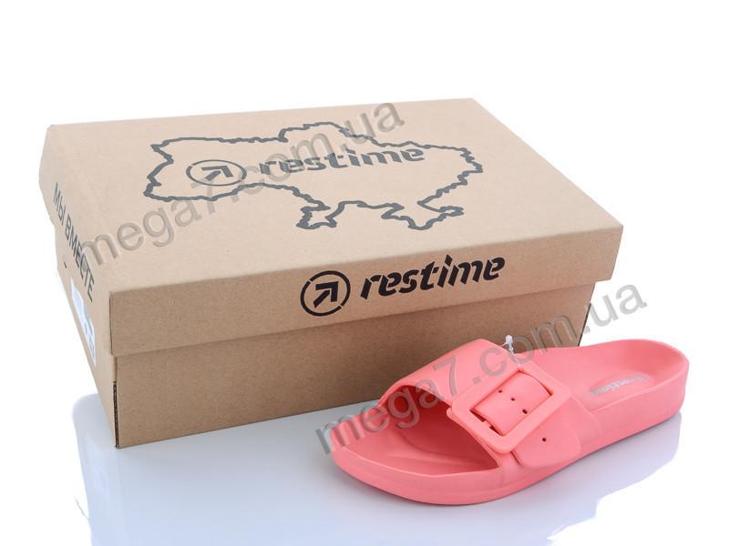 Шлепки, Restime оптом FWL20039 pink