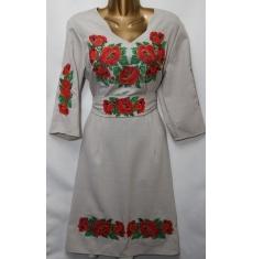 Платье вышитое женское оптом Батал 14071353 051