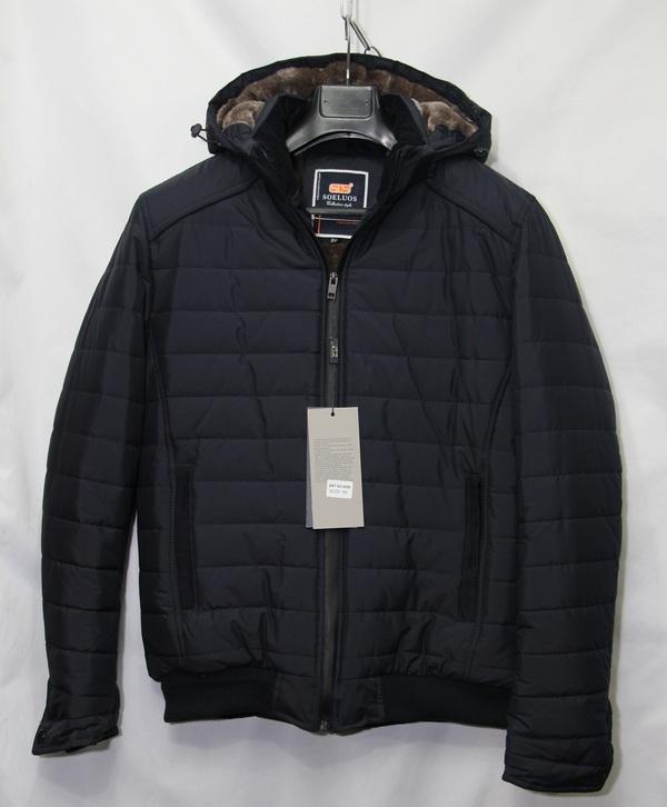 Куртка SOELUOS зимняя  мужская ПОЛУБАТАЛ оптом 14094976 8089-1