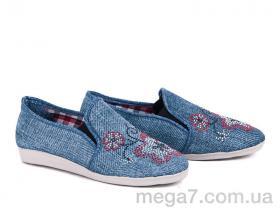 Эспадрильи, Selena оптом Эспадриль камни джинс светло-голубой