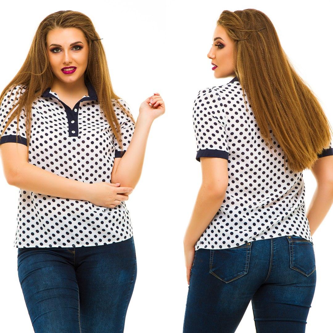 Блузы женские батал  оптом 05064683 5014-34