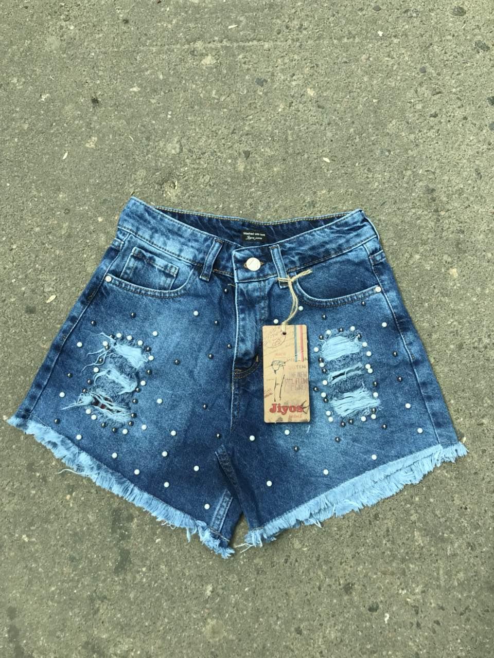 Шорты джинсовые женские оптом 31925678 1-14