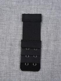 Застежка удлинитель для бюстгальтера на два крючка  (  чёрный  10 шт. ) 40732658