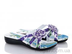 Шлепки, Makers Shoes оптом 111 фиолетовый