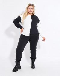 Спортивные костюмы женские с начесом БАТАЛ оптом 35720184 1498-12