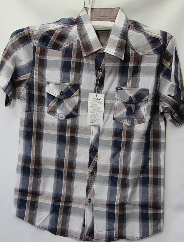 Рубашки мужские Турция оптом 2004523 3636-67