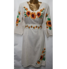 Платье вышитое женское оптом Батал 14071353 054