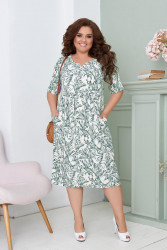 Платья женские БАТАЛ оптом 42953180 01 -2