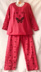 Ночные пижамы женские на байке БАТАЛ оптом 50237491 B94-44