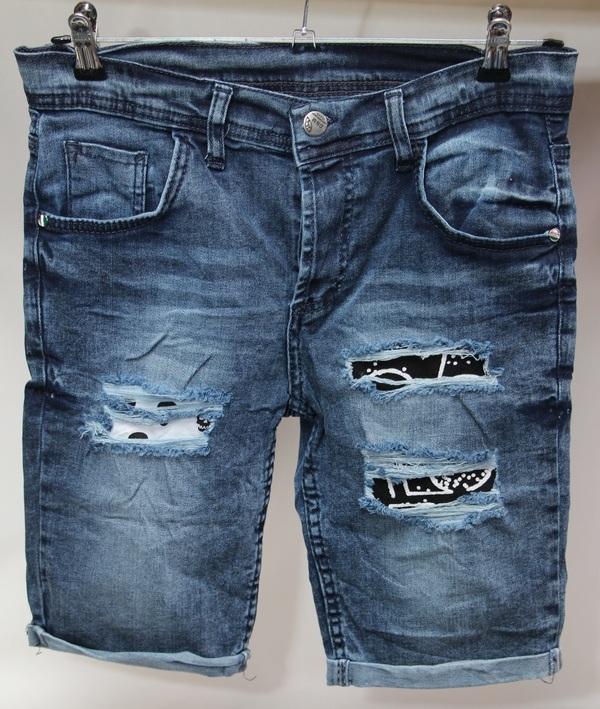 Шорты джинсовые мужские Турция оптом 2005531 052-01