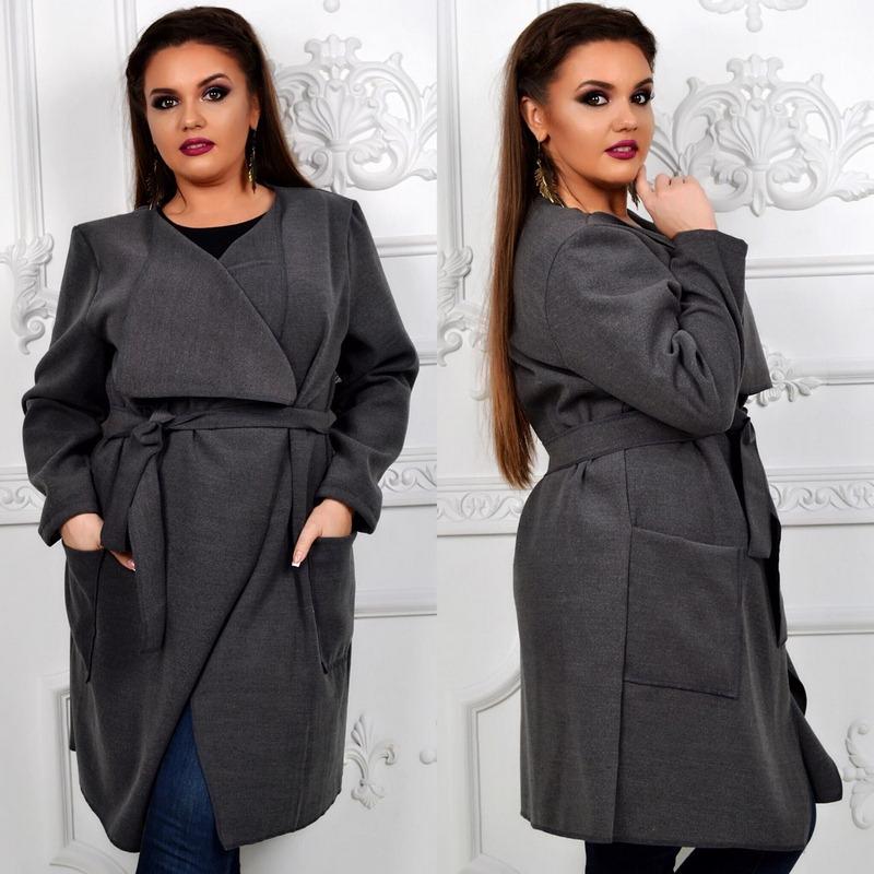 Пальто женские БАТАЛ оптом 24095540 015-11