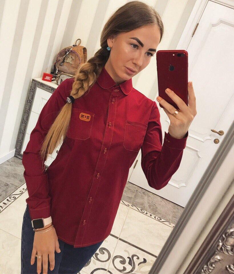 Рубашки женские  GUCCI оптом 17083183 04-28