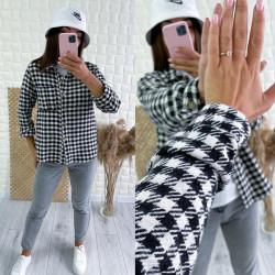 Рубашки женские на байке оптом 01487965 3094-19