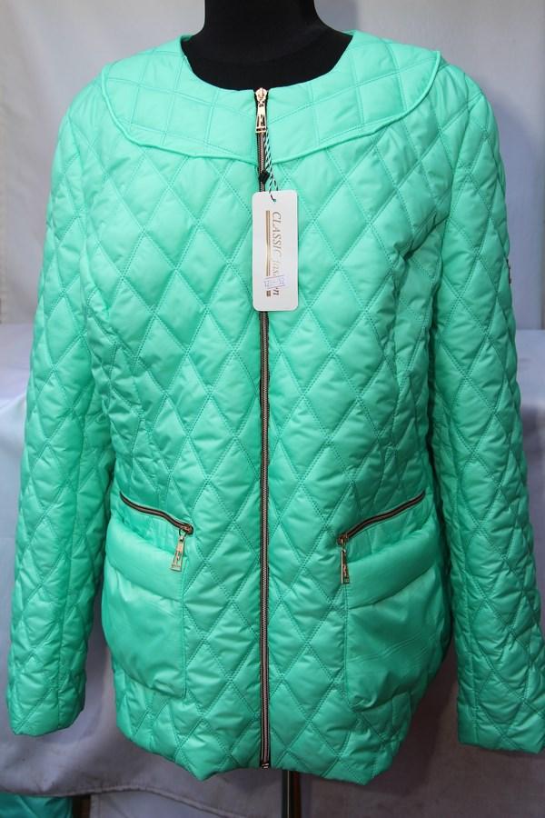 Куртка женская БАТАЛ весенняя оптом  19024974 125-7