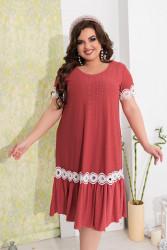 Платья женские БАТАЛ оптом 59632174 11-39