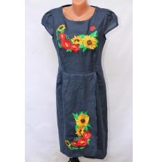 Платье вышитое женское оптом 1307782 002