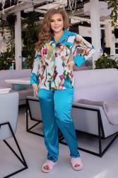Ночные пижамы  женские БАТАЛ оптом 30945861 25-51