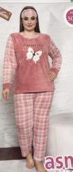 Ночные пижамы женские БАТАЛ оптом 04796385 5006-1