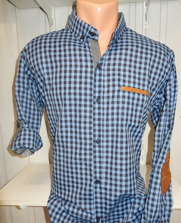 Рубашки мужские полу батал оптом 13081830 5210-4