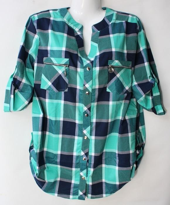 Рубашки женские БАТАЛ оптом 57068341 121 50-2