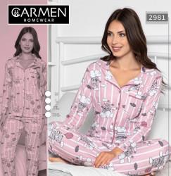 Ночные пижами женские GENARM HOMEWEAR оптом 25607843 2981-17