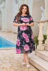 Платья женские БАТАЛ оптом 30798564 06-3