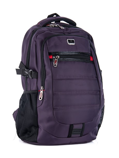 Рюкзаки ZABI grey purple оптом 22071520 9911-2