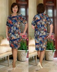 Платья женские БАТАЛ оптом 91246837 396 -14