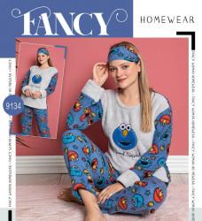 Ночные пижами женские на флисе FANCY HOMEWEAR оптом 08913542 9134-22