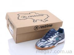 Футбольная обувь, Restime оптом DDB21419 navy-silver