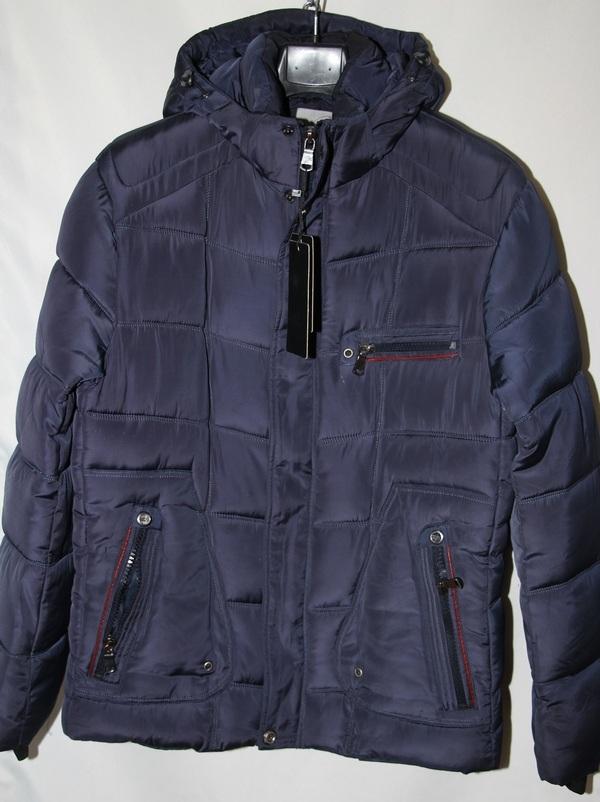 Куртки зимние мужские тёмно синие оптом  08071364 А03-1