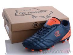 Футбольная обувь, Restime оптом DW020313-2 navy-grey-r.orange