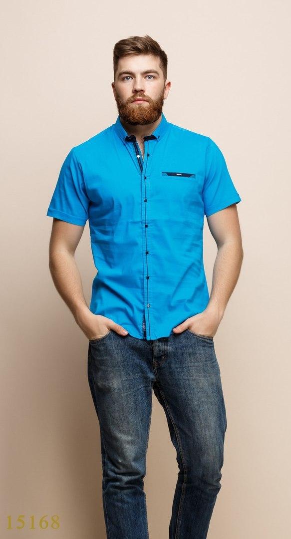 Рубашки мужские Турция оптом  1206133 15168