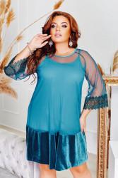 Платья (2ка) женские БАТАЛ оптом 90183726    05-7