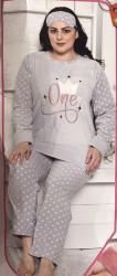 Ночные пижамы женские БАТАЛ оптом 40697318 5017-7