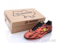 Футбольная обувь, Restime оптом DMB21419-1 black-orange