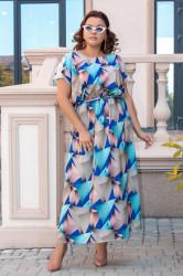 Платья женские БАТАЛ оптом 07912643 23-17