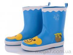Сапоги резиновые, Class Shoes оптом HMY219 голубой