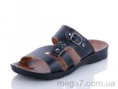 Шлепки, Makers Shoes оптом 10138 black